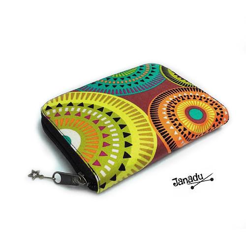 Peněženka na zip Mandaly 14 x 11 cm