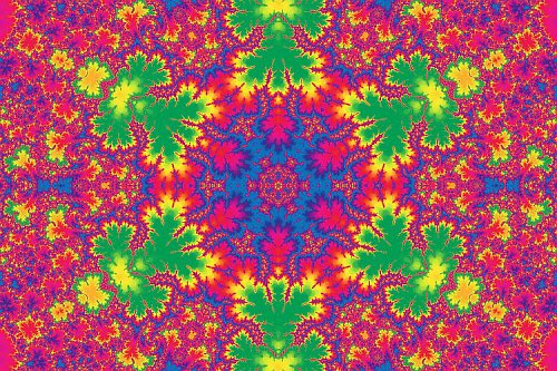 Mandala hippies - fraktál