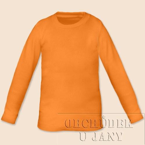 Tričko s dlouhým rukávem oranžové světlé