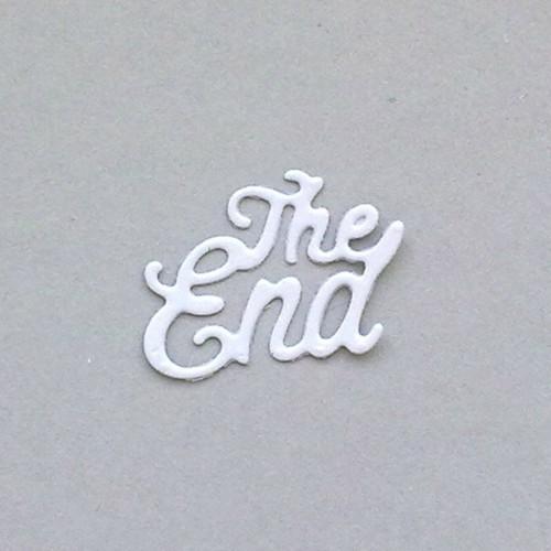 Nápis - The End - barva dle přání