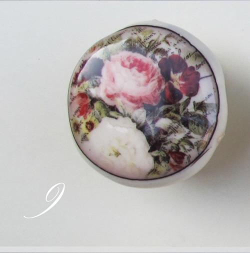 Keramická úchytka č.9 ze série Floral