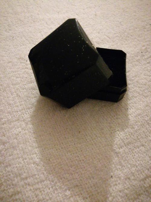 Černá třpytivá krabička