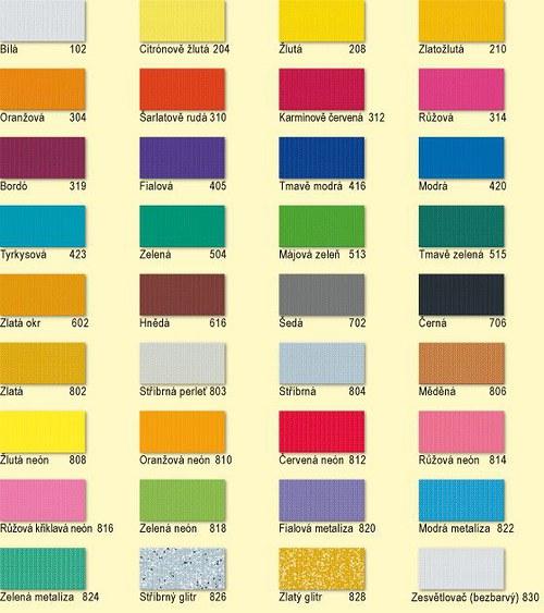 Barvy na textil NERCHAU 59ml Spec.odstíny stříbrná