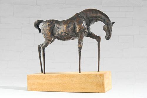 Koník  - bronzová socha - originál