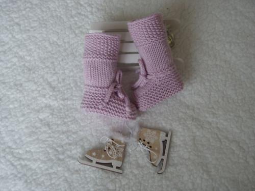 Merino botičky vysoké, zimní, sv. růžové