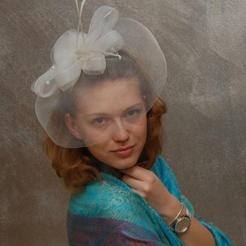Bride Rose ... klobouk či fascinator SLEVA