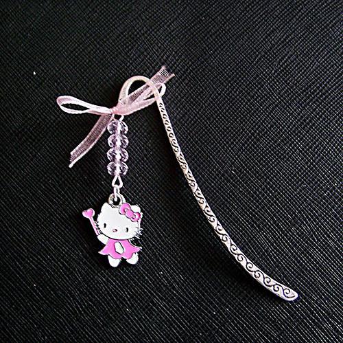 SLEVA Záložka do knihy kočka Kitty sv.růžová
