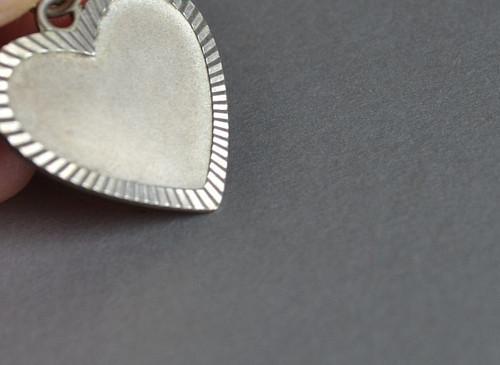 Srdce  - přívěsek Ag