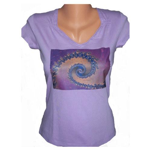 Dámské tričko fialová spirála