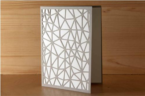 Přání Geometrie - pastelově šedá