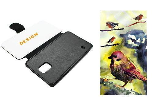 Ptačí - Samsung S5 MINI Obal Koženka
