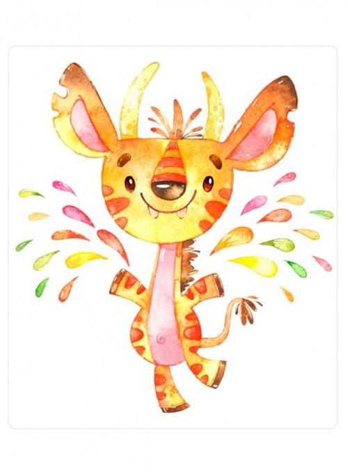 Panel bláznivá žirafa