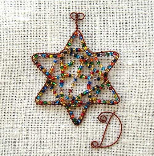 hvězdička šesticípá - cikcak - 6cm