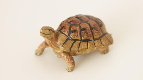 Starožitná hračka, hliněná zvířata Želva