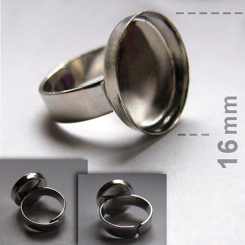 Prsten s lůžkem (16mm) - platina