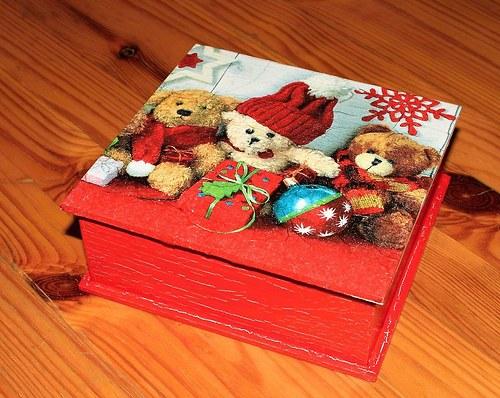 Medvídci vánoční - krabička menší