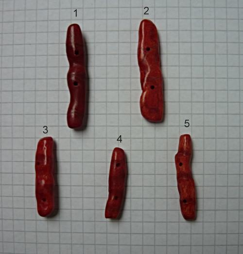 Červený korál vrtaný, na výběr