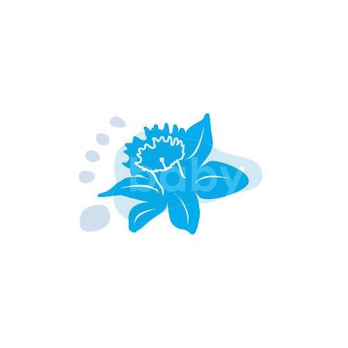 Razítko narcisový květ 6 x 5 cm