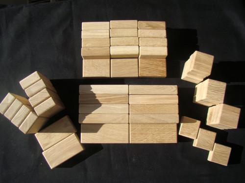 """Dřevěné kostky \"""" Kubík \""""  velká sada"""