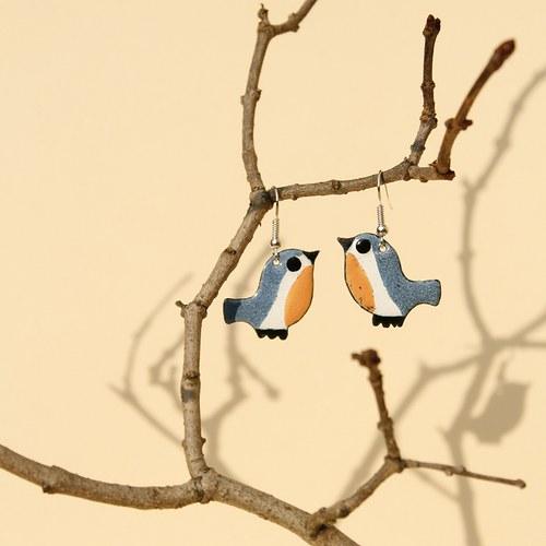 Náušnice - ptáček (3)