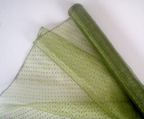 Organza zelená se vzorem