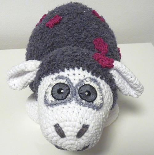 Háčkovaná ovečka Violet - návod