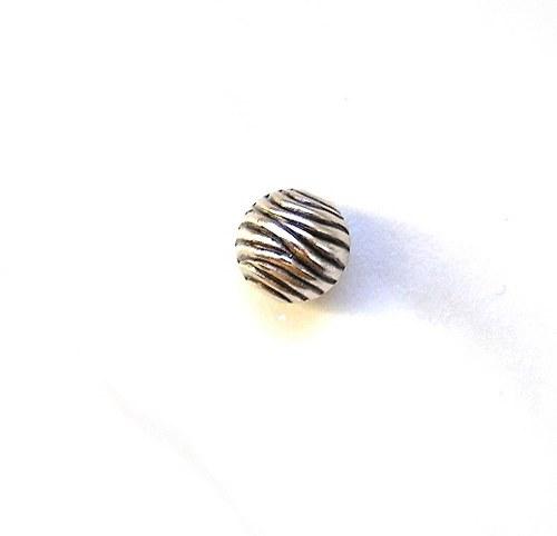 Vroubkované korálky, 10 mm - 4 kusy.