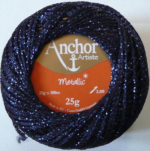 Anchor Artiste Metallic - modrá tmavá