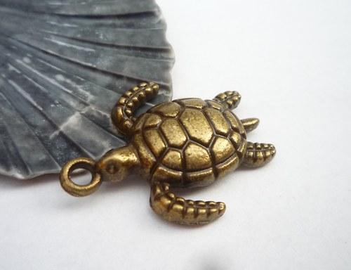 kovové želvy 2 ks