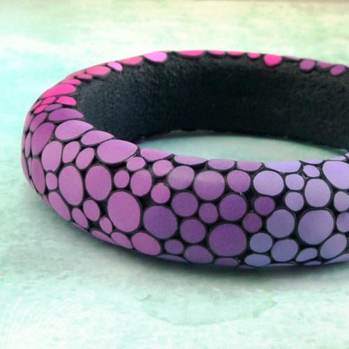 Bublinový náramek - růžovofialový