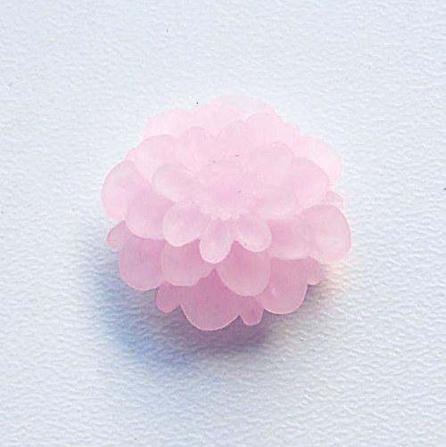 květinka / zamrzlá/ 20mm/ růžová světle č.5/ 2ks