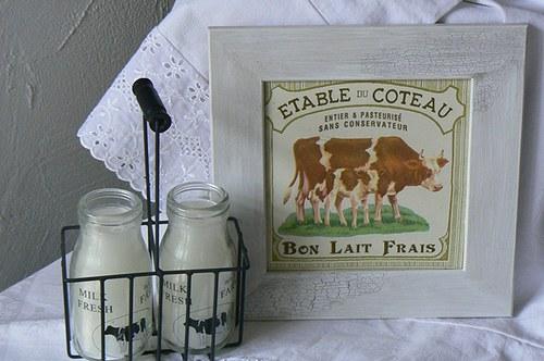 Vintage obrázek - kravička do kuchyně