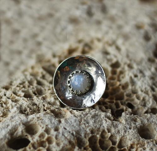 Moon (přírodní měsíční kámen, stříbro 925/1000)