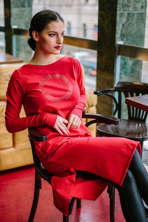 FNDLK úplet. šaty 450 RVdL_glitter midi s rozparky