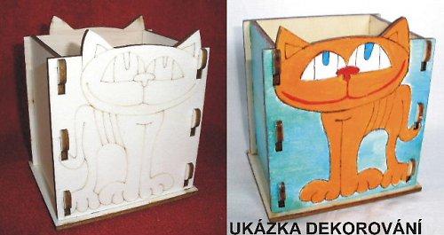 Krabička - stojánek na tužky KOČKA - 10,5x v.