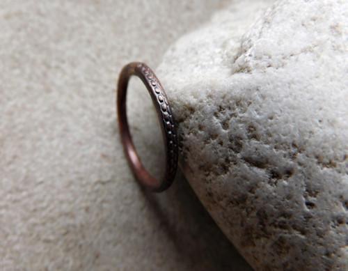 Měděný prsten ..se vzorkem