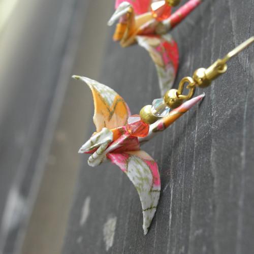 Něžné origami - náušnice