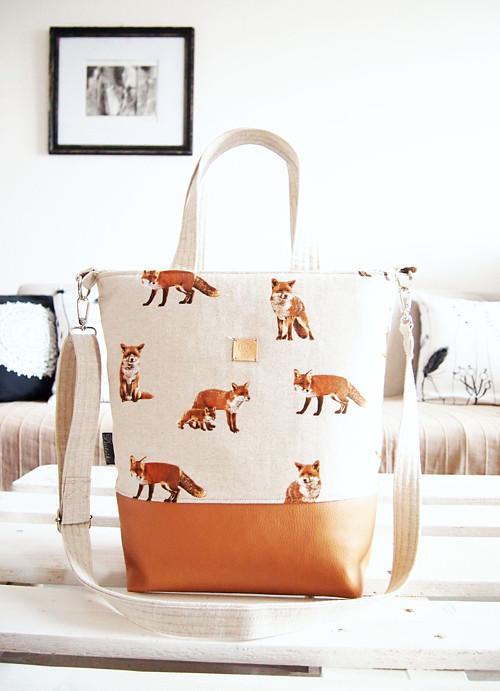 Veľká taška - líšky s karamelovou