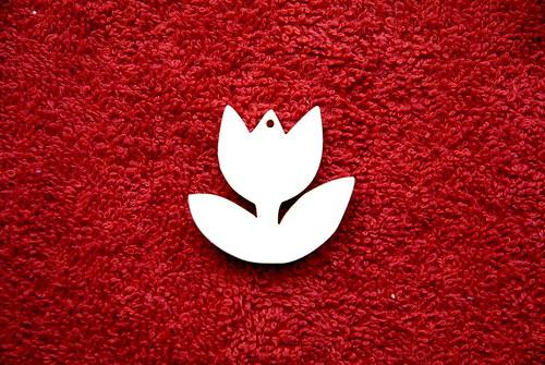 2D výřez přívěsek tulipán v.3,5x3,7cm