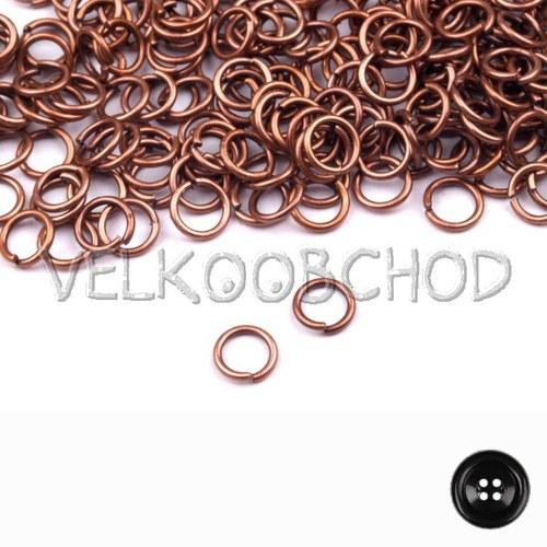 Spojovací kroužky pr.4 mm (250 ks) - staroměď
