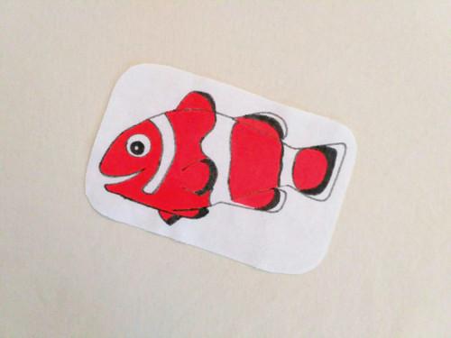nažehlovačka - rybka - klaun