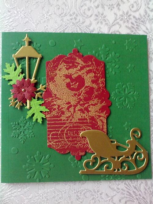 Čtvercové vánoční přání