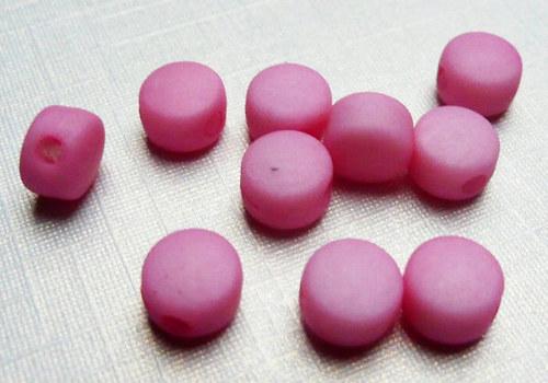 Plastové disky 6 mm - sv. růžová / 15 ks