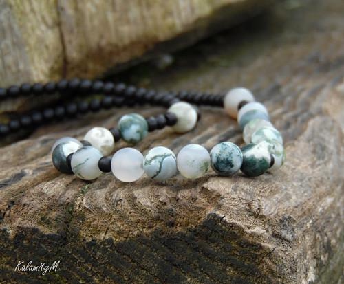 Mechový - náhrdelník z mechového achátu