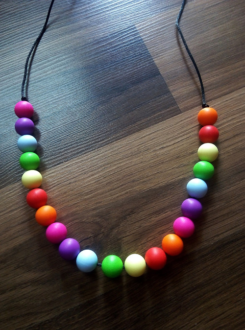 Silikonový náhrdelník barevný