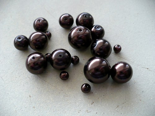 voskované perly mix velikostí 100g