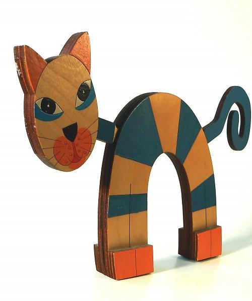 Kočka ručně malovaná