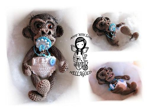Opičí miminko 3D - návod 74