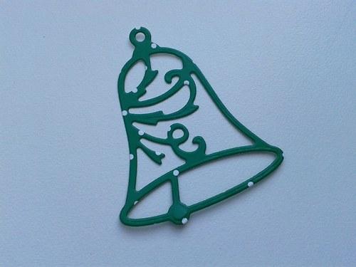 Zvoneček - zelený s puntíkem