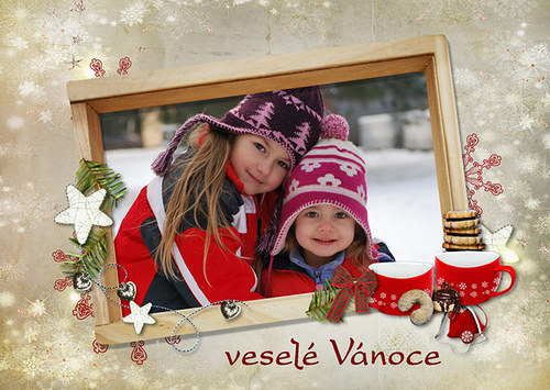 Vánoční přání - pohlednice